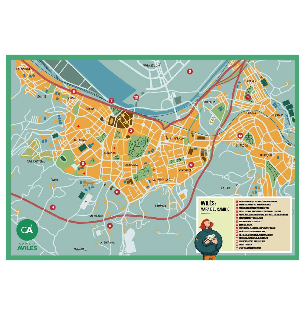Mapa del Cambio