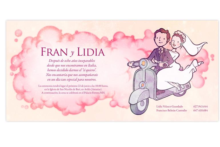 Invitación de boda Fran y Lidia