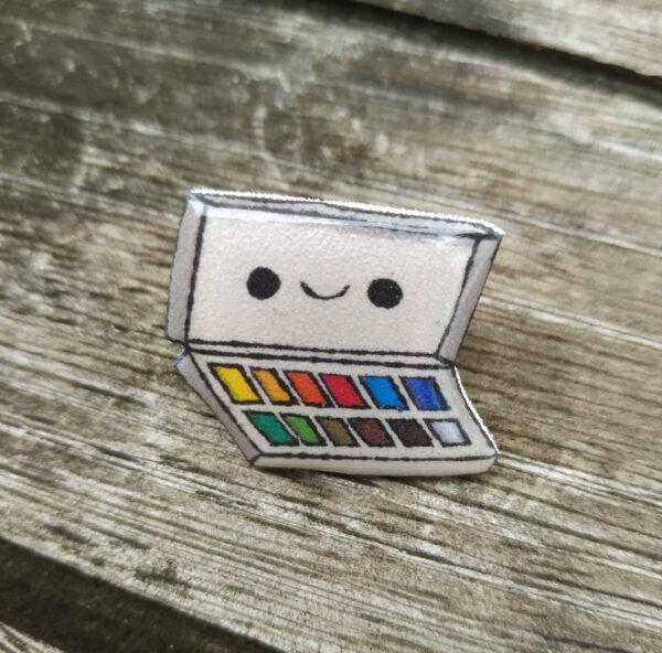 pin caja de acuarelas